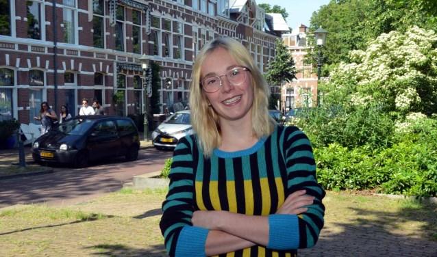 Maura Martens vind Den Haag een gemoedeljke en gezellige stad (Foto: Jos van Leeuwen).