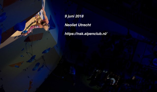 Het Nederlandse Studenten Alpen Club (NSAC) houdt zaterdag 9 juni het Rab NSK Lead. Foto: NKBV Zout Fotografie