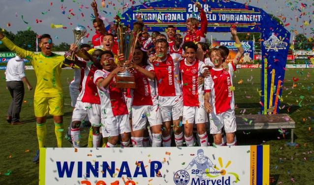Ajax is winnaar van het Marveldtoernooi 2018. Foto: PR