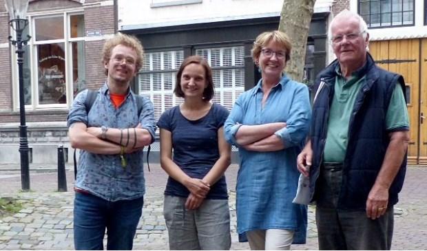 V.l.n.r. Wibo Kosters, Kirstin Gramlich, Ingrid de Zwart, Pieter Leeflang.