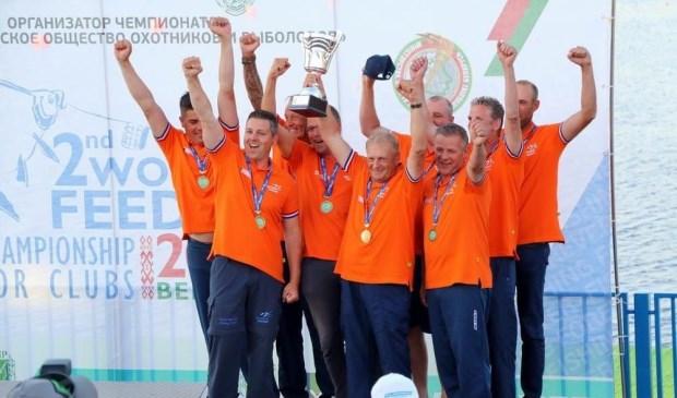 De Nederlandse ploeg behaalde een knappe derde plaats op het WK Feeder Teams.