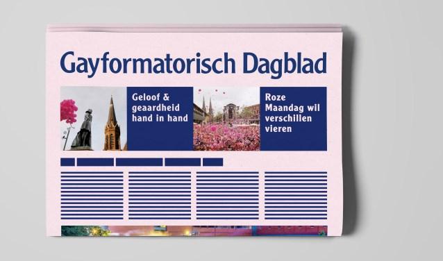 Als reactie op de rel rondom flyers bij het Reformatorisch Dagblad eerder dit jaar komt de organisatie van Roze Maandag met een Gayformatorisch Dagblad.