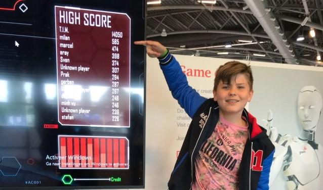 Milan Scheurwater uit 1Q met de hoogste score. (foto: Marcel Massing)