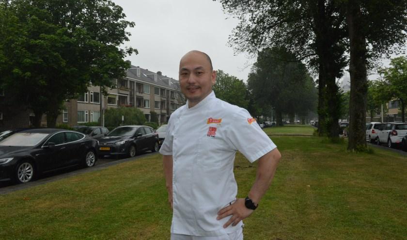 ROC Mondriaan aan de koningin Marialaan is één van de favoriete plekken van Juntsung . (Foto: Jos van Leeuwen).