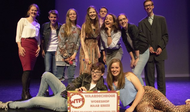 Theatergroep Jongeren Gevorderden van Kunstencentrum Waalwijk heeft opnieuw de juryprijs van het Waalwijks Theater Festival gewonnen. Foto: Henk van de Rijke