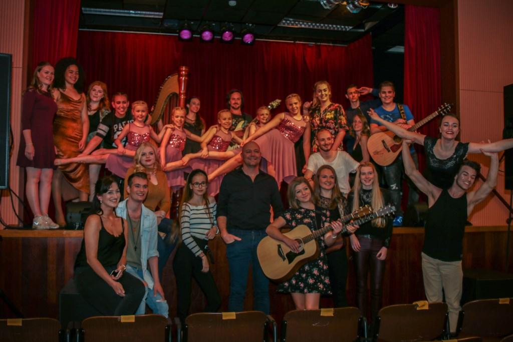 De deelnemers aan de HotSpot Talent Live Show op 21 april jl. in Mierlo.