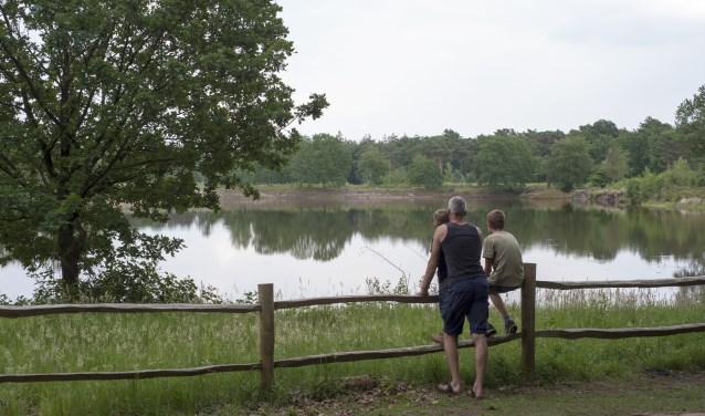 Bij het Hazewater is het de moeite waard even te pauzeren en te genieten van het uitzicht.