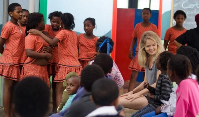 Musicalster Sita Vermeulen en directeur Michael van Hoorne reisden af naar Zuid-Afrika. (Foto: Privé)