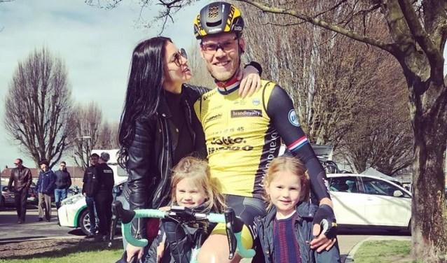 Lars Boom met zijn familie.