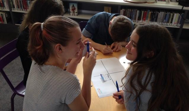 Jongeren aan de slag met de casussen over niet-herkende kennis
