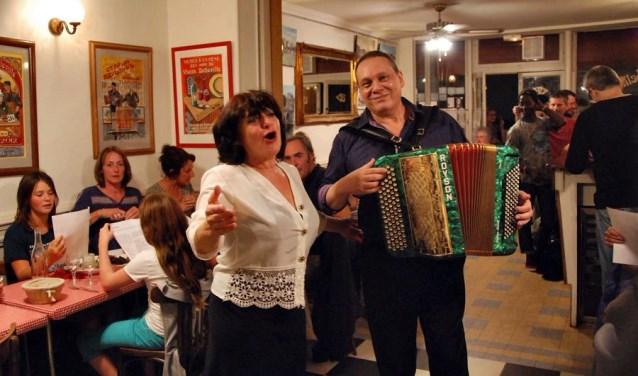 Frans zangduo Malene en Michel