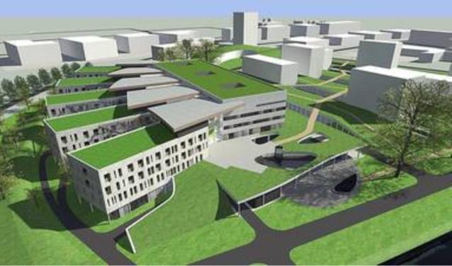 Een impressie van het Hansa-ziekenhuis dat er nooit kwam op de Health Campus in Boxmeer.