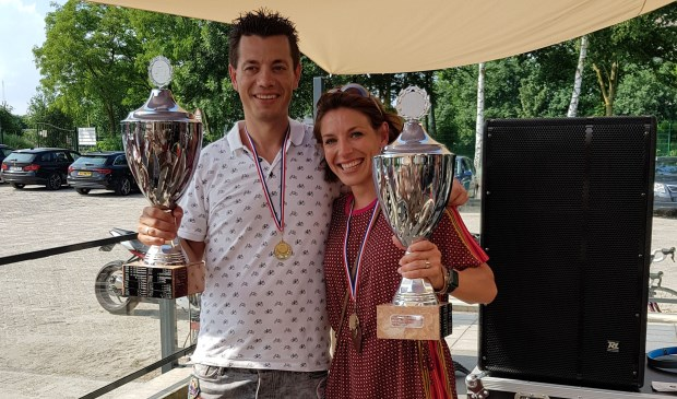 Clubkampioenen 2018 Thomas van der Kolk uit Sprang-Capelle en Jeannette Smelt uit Drunen.
