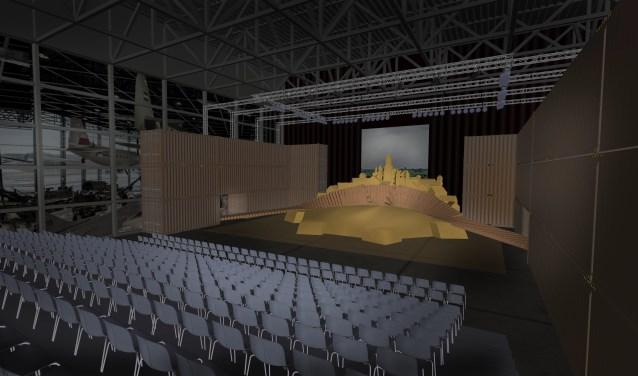 Impressie van het theater. Hier moet de grootste Nederlandstalige opera ooit geschreven op het toneel; de opera Thijl, uitgevoerd worden. Foto: Eric Goossens