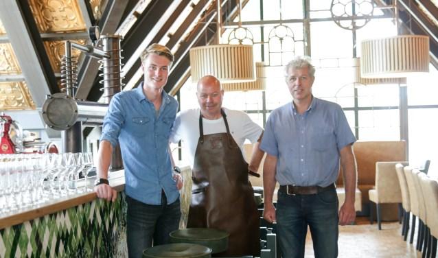 Tim Wieggers,  brouwer Boudewijn Albering en Ben Weenink. Foto PR