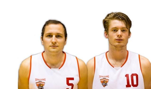 Twee kampioenen. Martijn van Noordenne links en Luke Essenstam rechts.