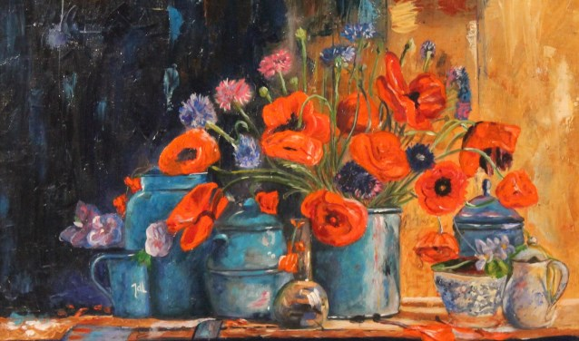 Anny Rensink vindt het schilderen van stillevens het leukste