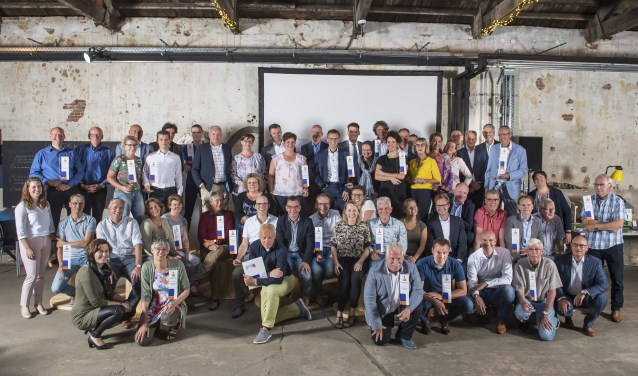 Groepsfoto deelnemende verenigingen.