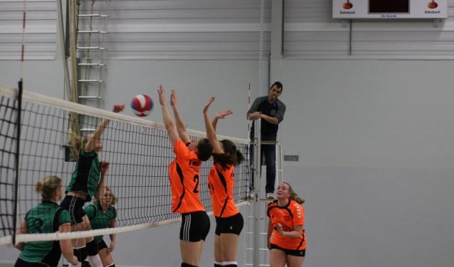 De volleybalsters van SDS willen op zijn minst in de eerste klasse blijven.