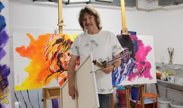Beeldend kunstenaar Kees de Jong nodigt iedereen uit om zich aan te melden voor de Paint Picknick. (Foto: Margriet van Dam)