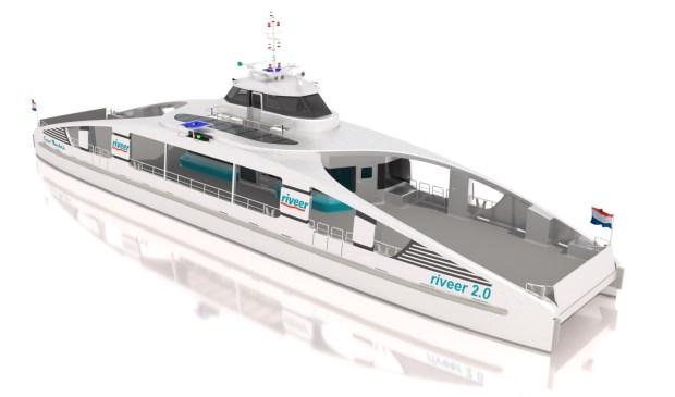 Een 'sneak preview' van het ontwerp van de elektrische veerboot.