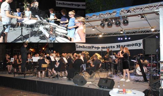 De jeugd trad 's middags op (inzet), 's avond ging Lochem Pop Meets Harmony verder.