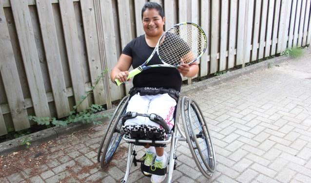 Ondanks tegenslagen heeft Natascha Hoefhamer heeft zich tot doel gesteld de top te bereiken met rolstoeltennis. Foto: Wendy van Lijssel