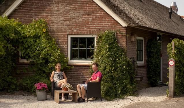 Hillie Walet, eigenaresse van Mon-Chouette samen met Raymond Kortman voor 'De Melkstal'. (Foto: Hetty Heijne)