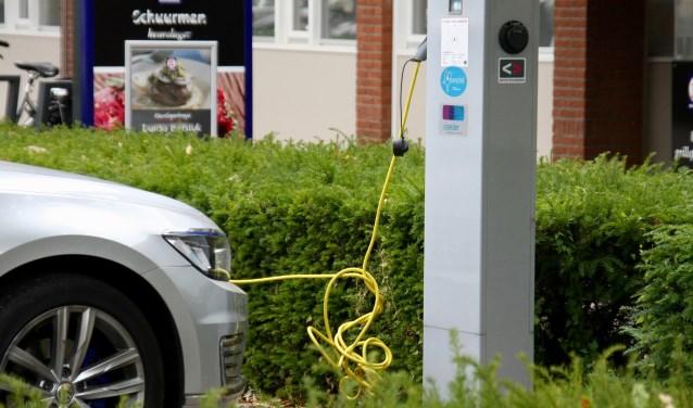 Openbare elektrische laadpalen installeren worden op de lange baan geschoven.
