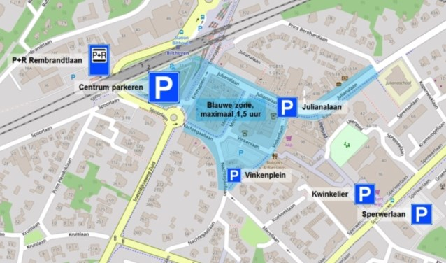 Binnenkort start het toezicht en handhaving op het naleven van de blauwe zone voor parkeren in Bilthoven.
