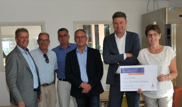 Van links naar rechts: Ed Vreman, Piet Bruijnincx, Olav Posthumus, Peter van den Broek, René Kerstens en Mien de Jong.