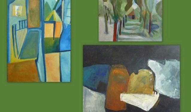 Collage nieuwe werken Francien in't Veld