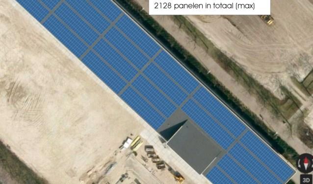Dak hal Bouw- en Infra vol zonnepanelen
