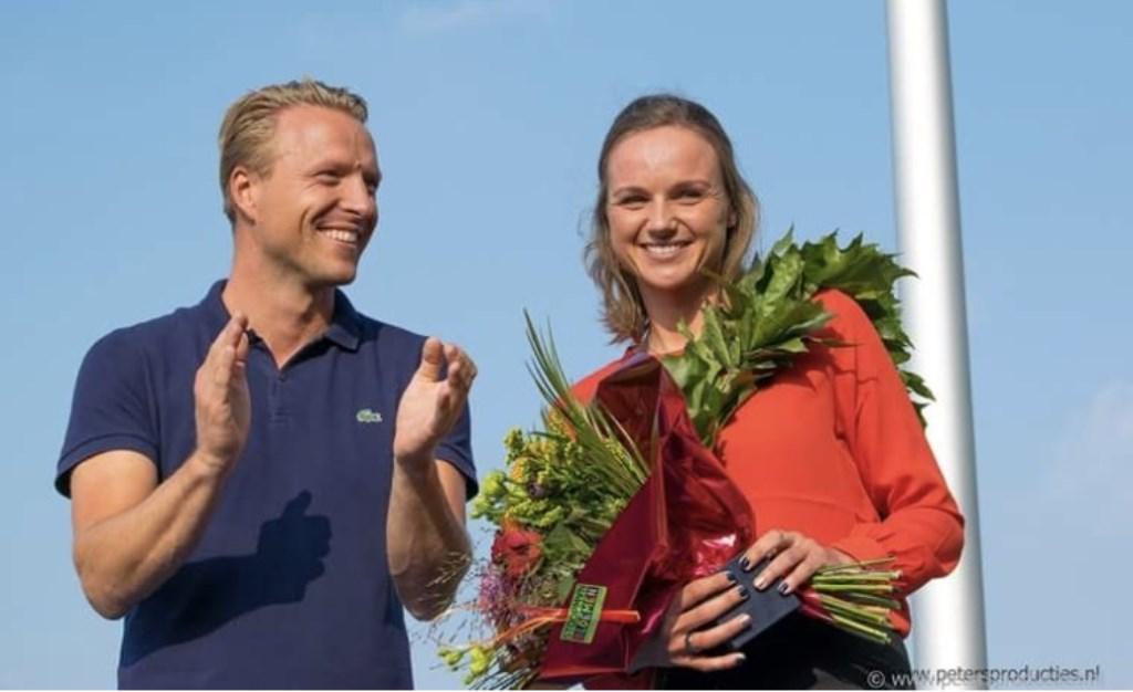 Lars van den Broek (l) en Chantal Blaak.