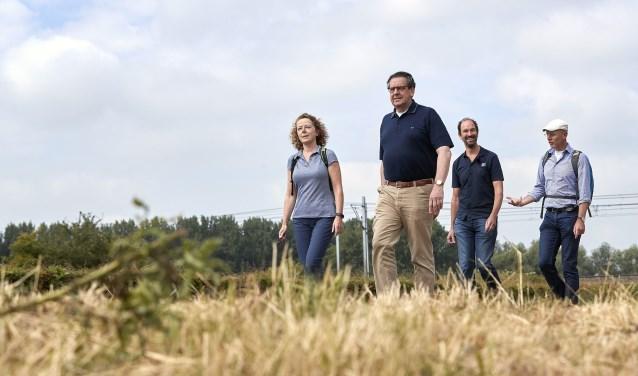 Van links naar rechts Dieke Wesselingh, Bert Pauli, Henri Swinkels enArnoud-Jan Bijsterveld.Foto:Wim Hollemans
