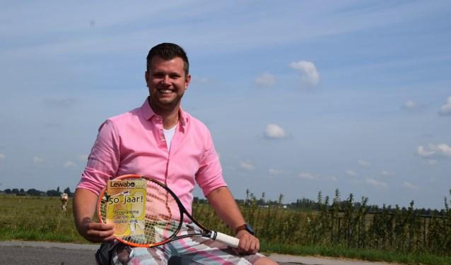 Vincent de Jong, actief recreant, geniet van de sfeer in zijn club. (Foto Hanneke Hoefnagel)