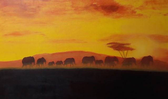 Afrikaanse zonsondergang. (Lianne van den Boogaard)