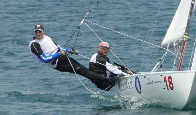 De Flying duchtmanzeilers Enno Kramer en Ard Geelkerken zijn op het WK op de vierplaats geëindigd.