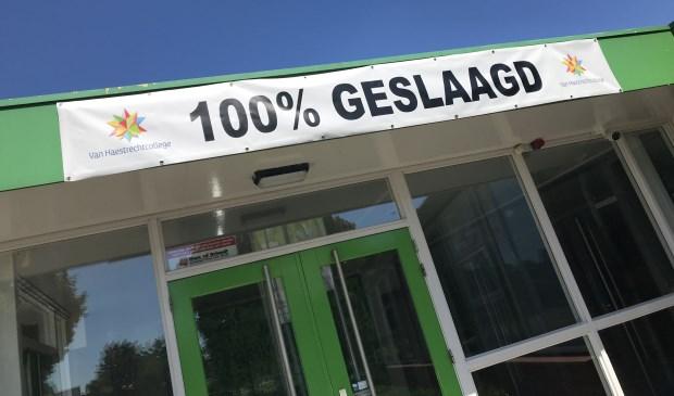 Tweemaal achter elkaar een slagingspercentage van 100%: daar zijn ze bij het Van Haestrechtcollege in trots op!