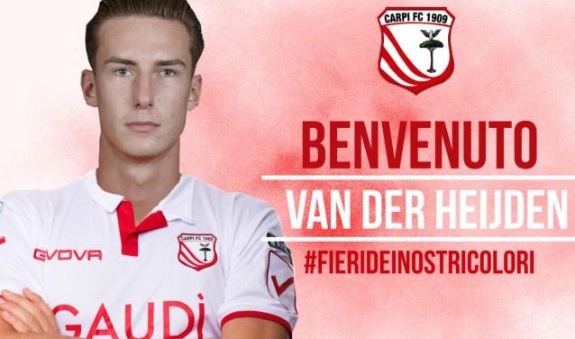 """""""Non vedo l'ora di iniziare"""", meldt Schiedammer Dennis van der Heijden op de site van zijn nieuwe werkgever Carpi FC 1909. """"Ik kan niet wachten om te beginnen"""". Een nieuw avontuur lonkt. (Foto: Carpi FC)"""