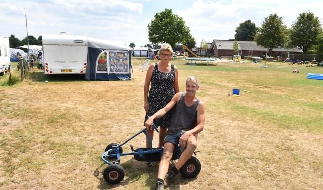 Hans en Ingrid te Grotenhuis van SRV camping 'de Blökke' in De Heurne.