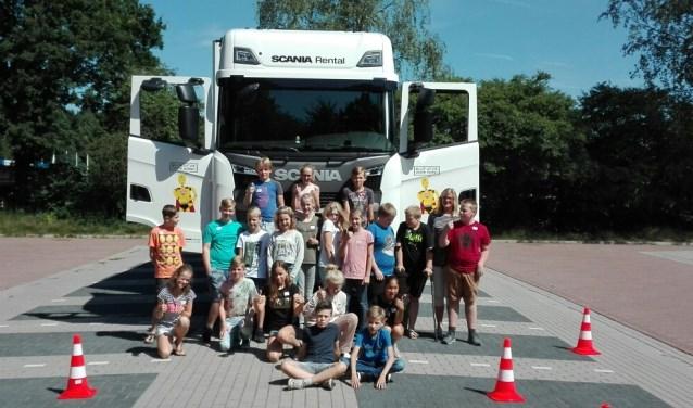 Een groep leerlingen van de Hulstschool.