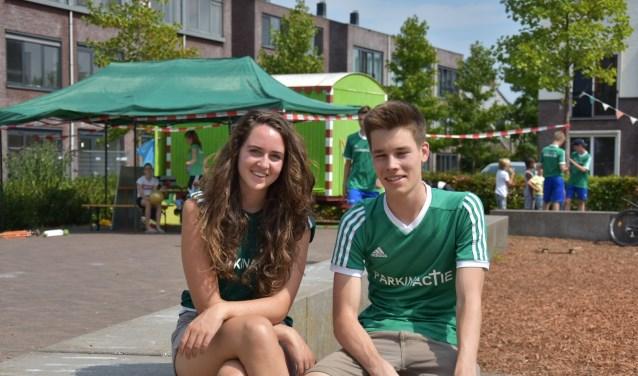 Yvonne Klapwijk en Sander Oostdijk, vrijwilligers tijdens de zomerweek
