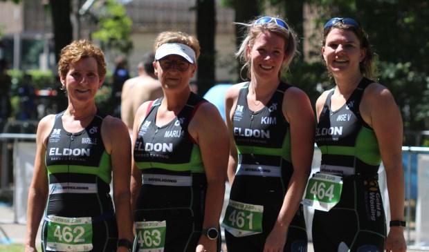 an het damesteam van TLV de Langstraat stonden Inge Verhoeven, Kim van der Meijs, Marij Sweep en Mariëlle Sprangers aan de start.