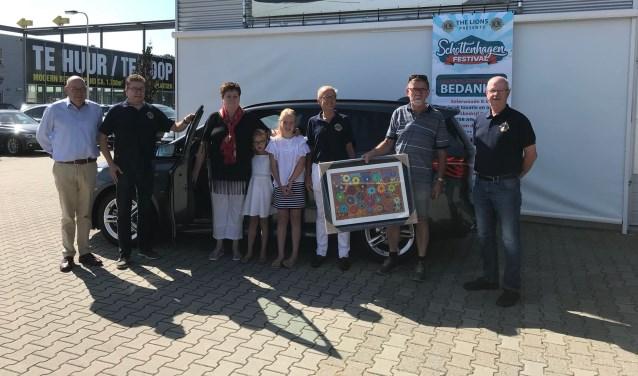 Zaterdag werden de winnaars van de 1e en 2e prijs in het zonnetje gezet.