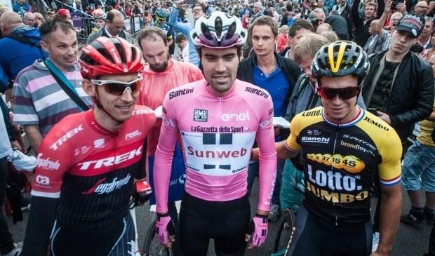 Bauke Mollema, Tom Dumoulin en Dylan Groenewegen staan maandag aan de start in Boxmeer.