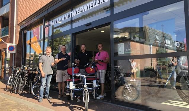 De 4e duofiets is er! Dank zij de Provincie Gelderland én een bijdrage van Hartman Tweewielercentrum.