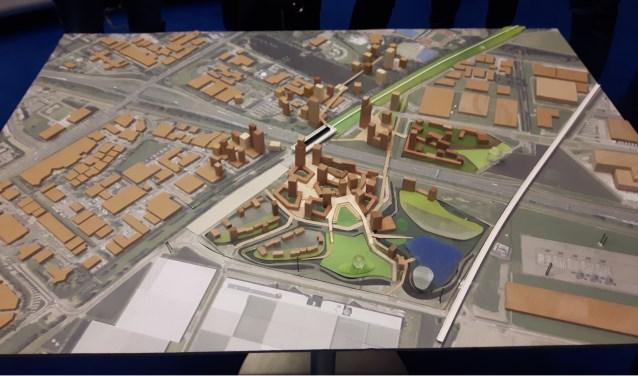 De maquette van het plan. Foto: Leefbaar 3B