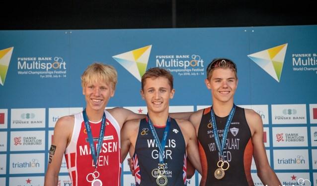 Joey van t Verlaat behaalt brons op Wk Duathlon.