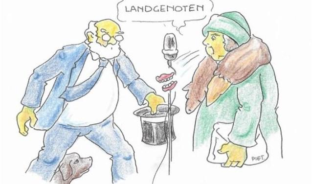 "Toen ze riép ""Leve de koningin!"" laag d'r gebit bekaant tuusen 't vòlk op d'n Dam. Reageren? Mailen naar wolluksepraot@erstelinghe.nl."